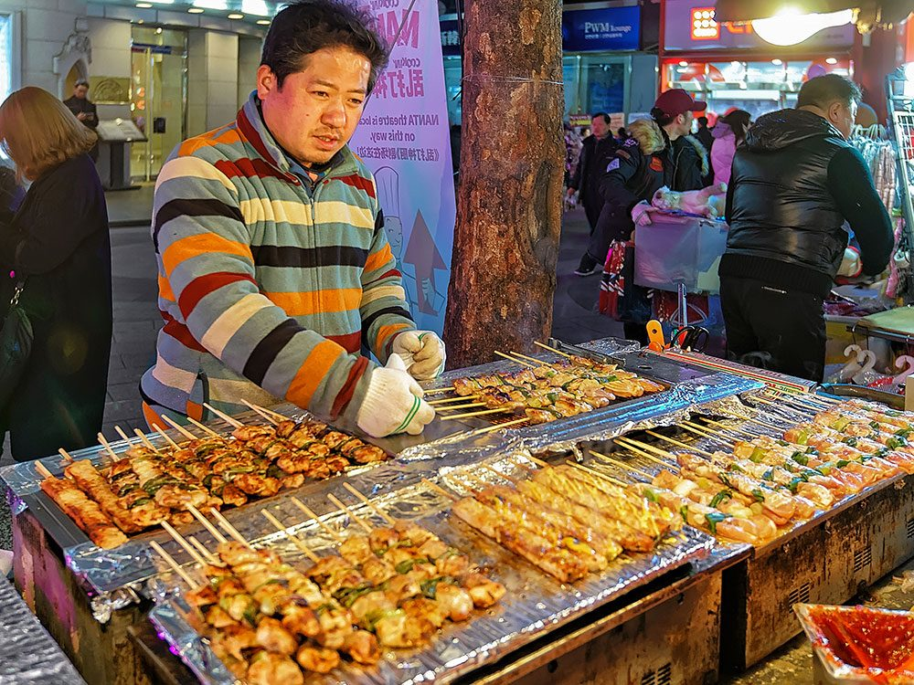 Street food vendor in Seoul, South Korea