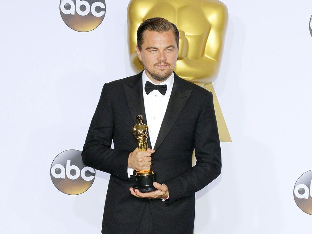 Leonardo di Caprio winning an Oscar