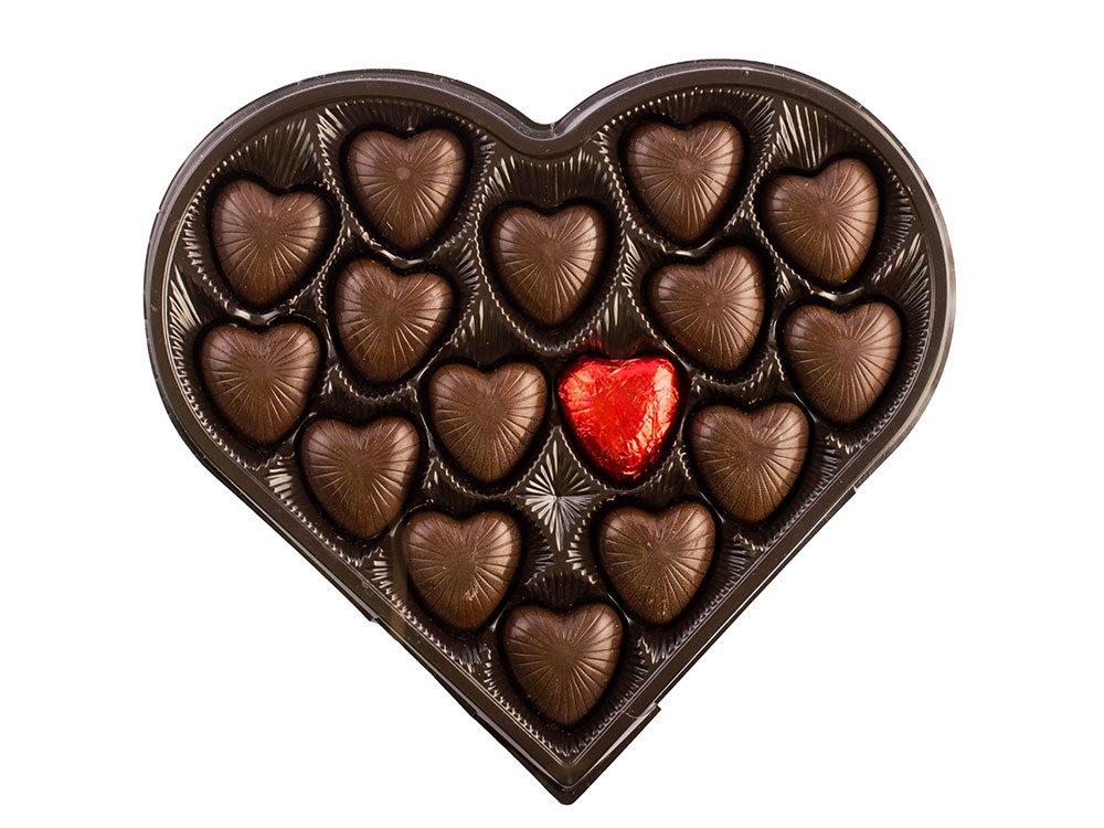 Heart-shaped box of chocolate