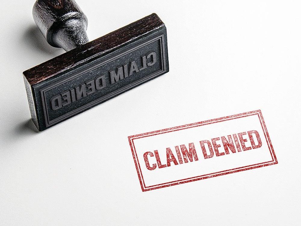Car insurance claim denied