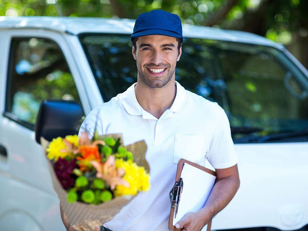 Commercial use vehicles include flower delivery vans