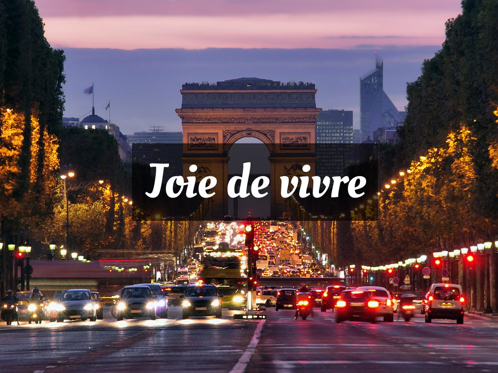 Joie de vivre is one of the most common French phrases