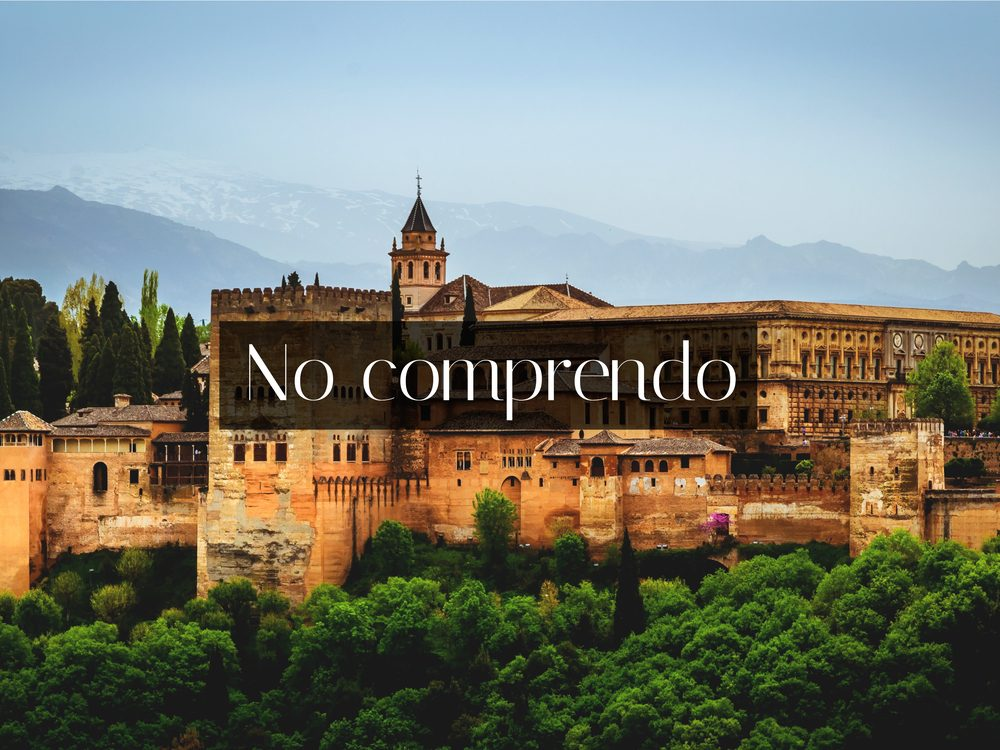 """I do not understand"" in Spanish"
