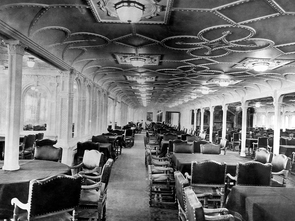 Dining room of the RMS Titanic