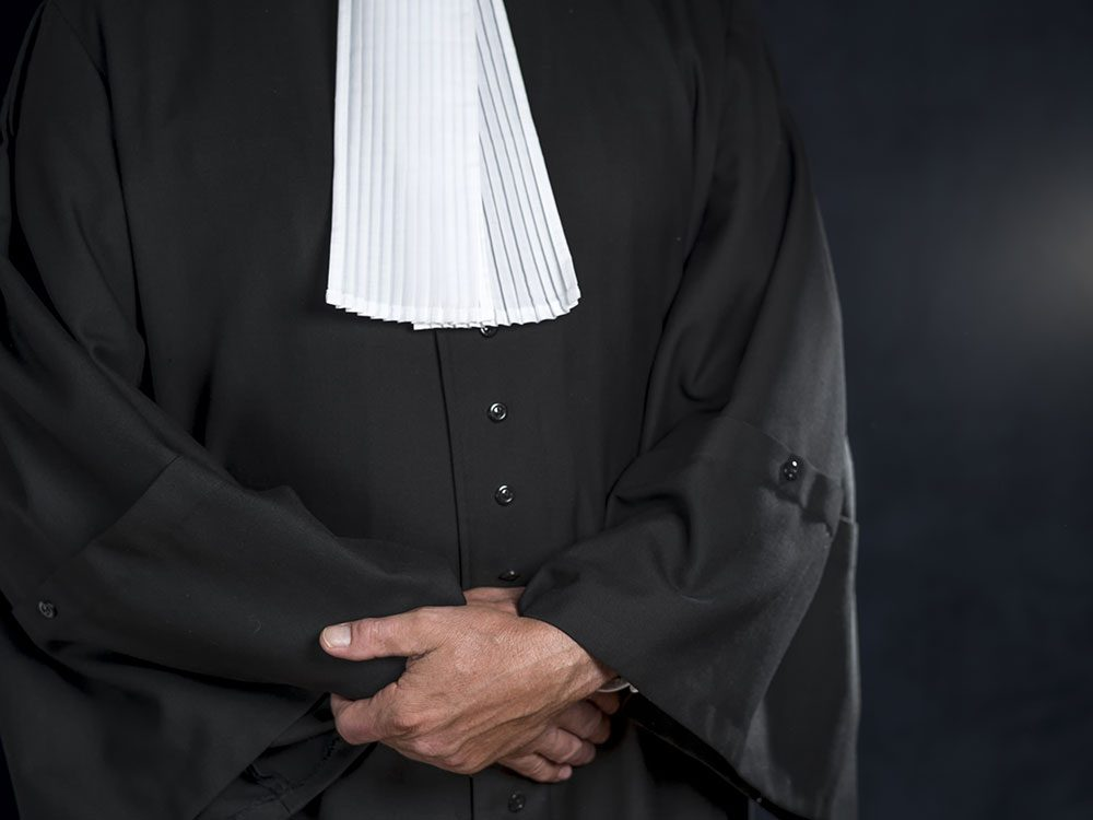 Funny lawyer jokes - black lawyer's robes