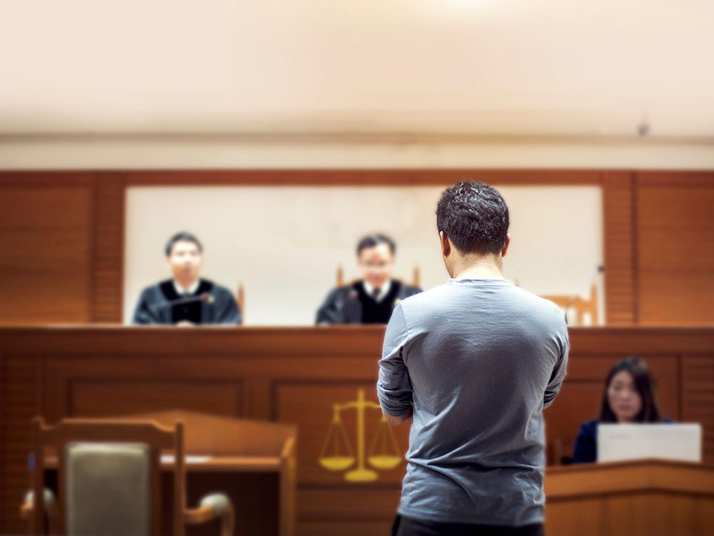 Funny lawyer jokes - Criminal facing judge in court