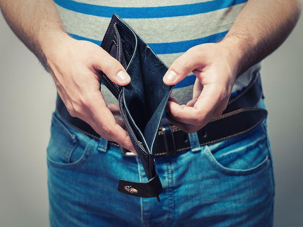 Funny lawyer jokes - empty wallet