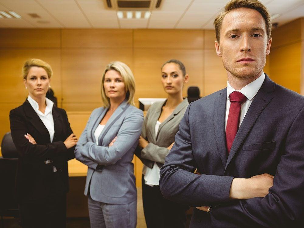 Funny lawyer jokes - group of lawyers