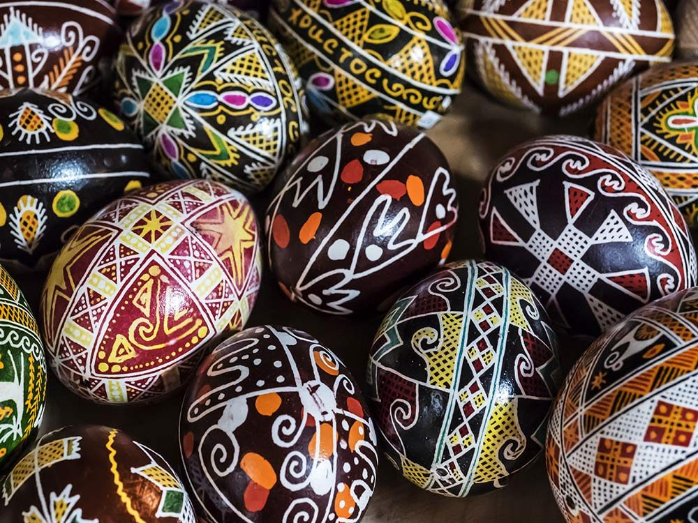 Traditional Ukrainian Easter eggs