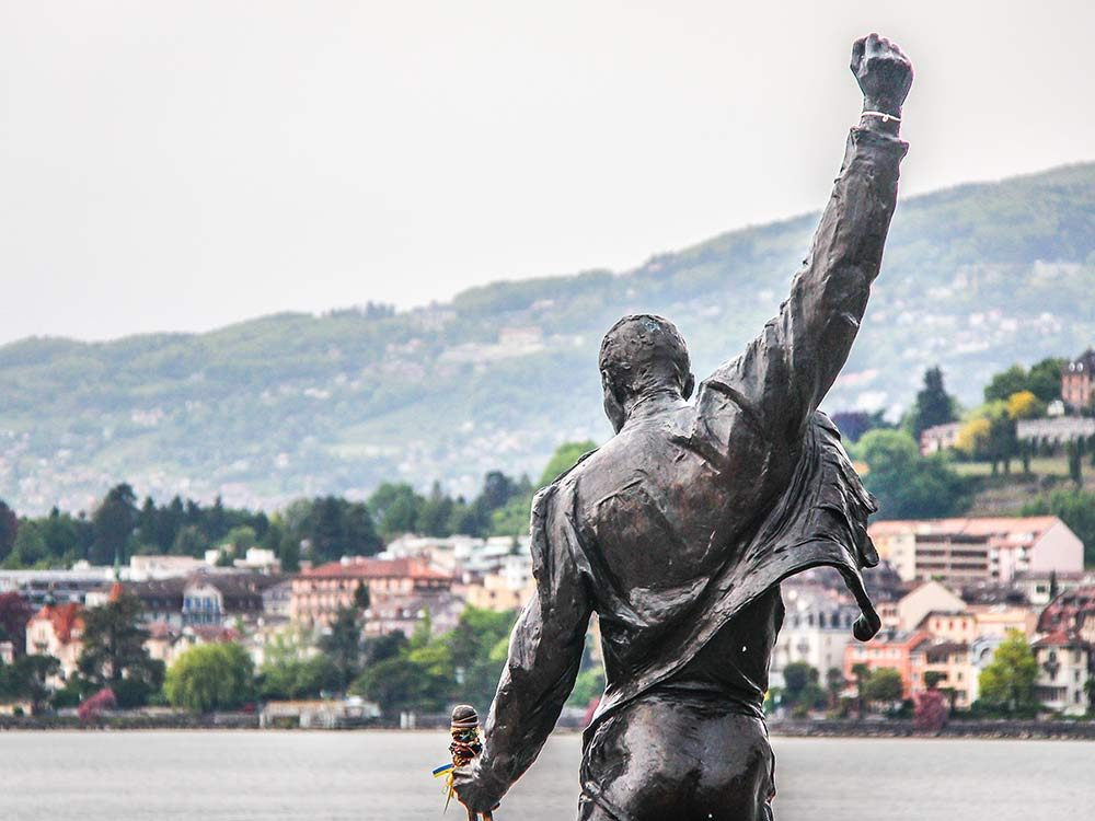 Freddie Mercury statue in Switzerland