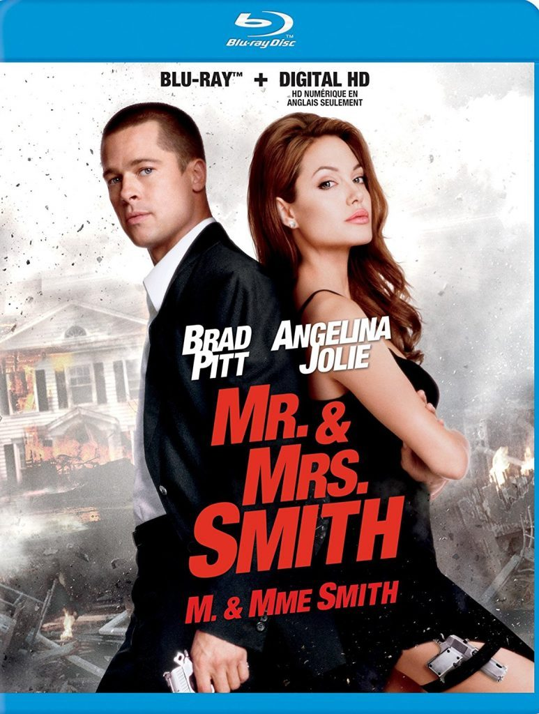 Blu ray cover of Mr. and Mrs. Smith