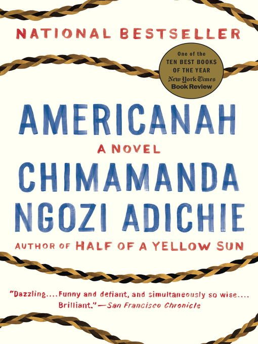 Cover of Americanah by Chimamanda Ngozi Adichie