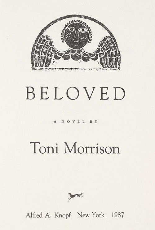 Cover of Beloved by Toni Morrison