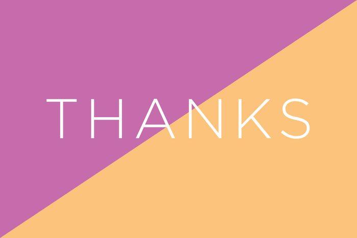 Always say thanks