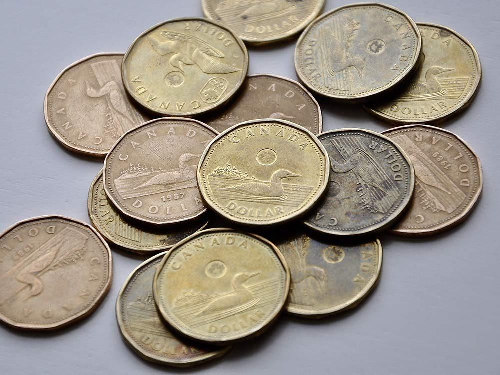 Canadian dollar coins