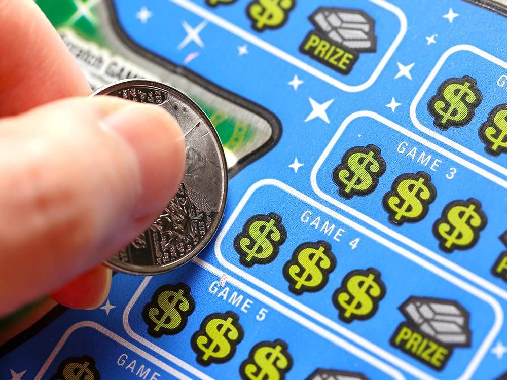 Scratch lottery ticket