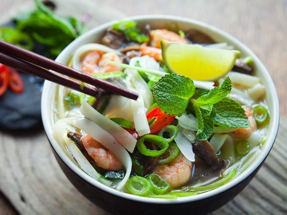 Vietnames pho noodle soup