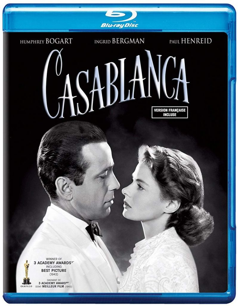 Blu ray cover of Casablanca