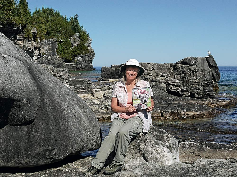 Our Canada reader in Bruce Peninsula National Park