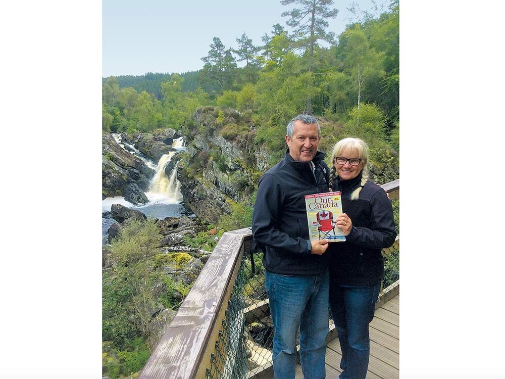 Our Canada readers pose in Scotland