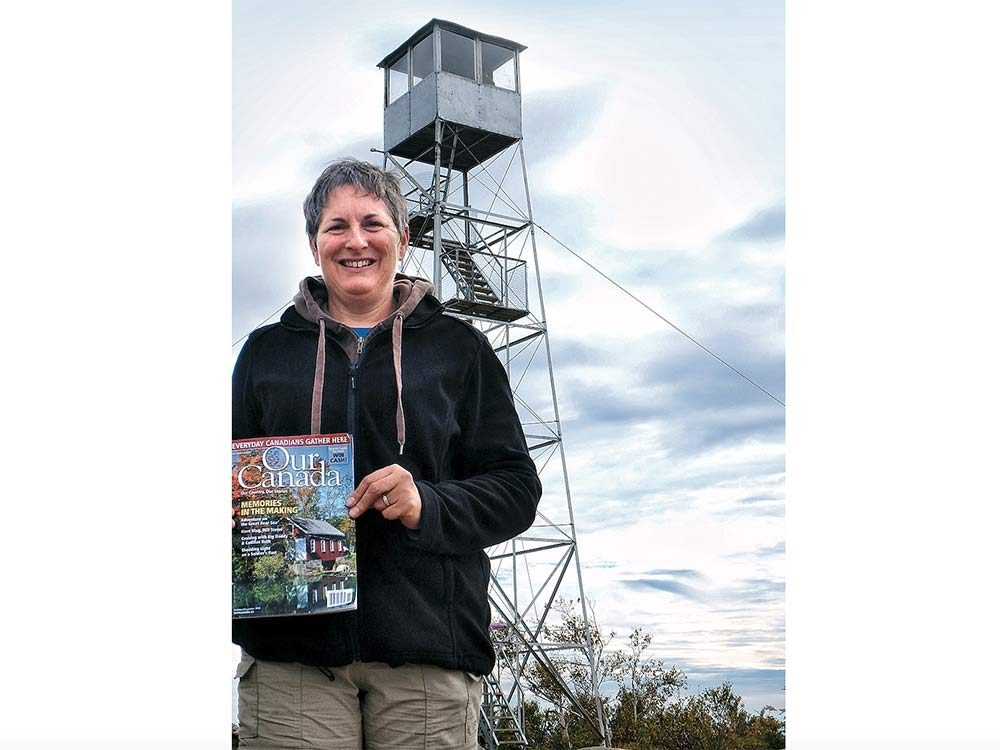 Our Canada reader in the Adirondacks