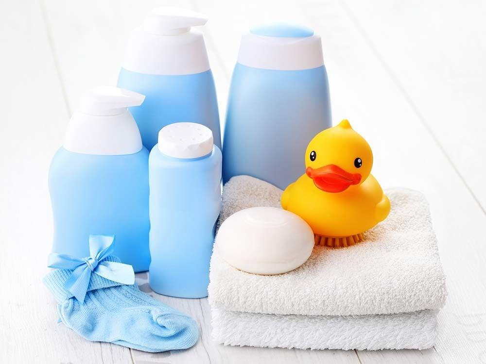 Children's bath toys including rubber duck