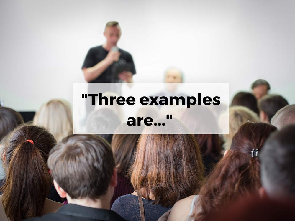 """Three examples are..."""