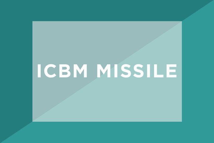 ICBM missile text
