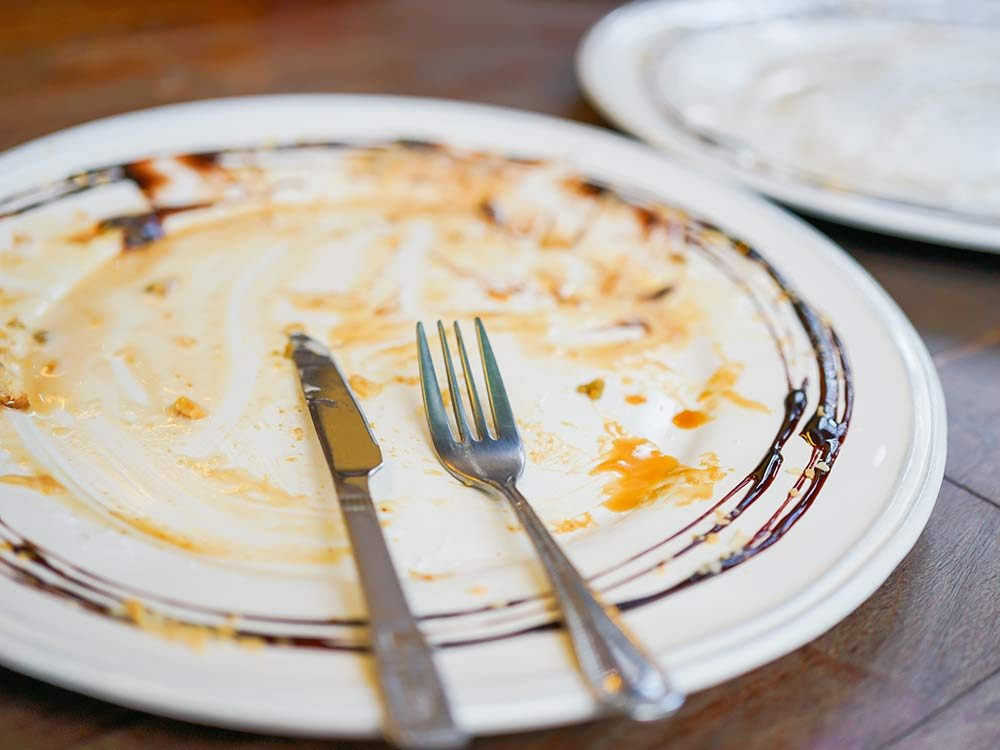 Plate after finishing dessert
