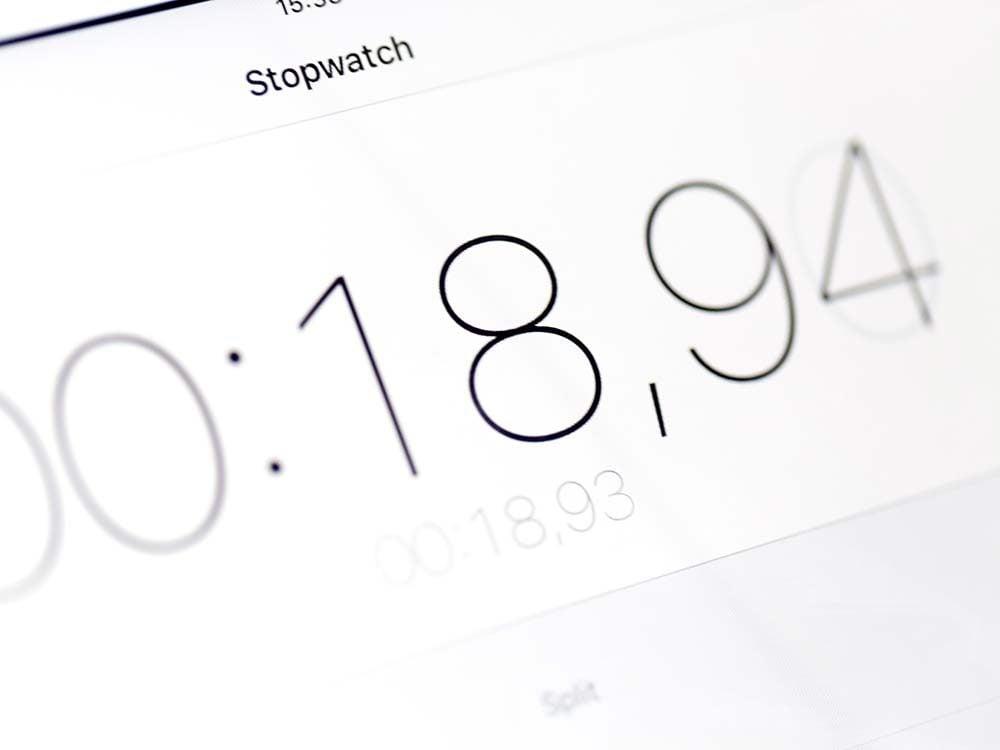Stopwatch app on iPhone