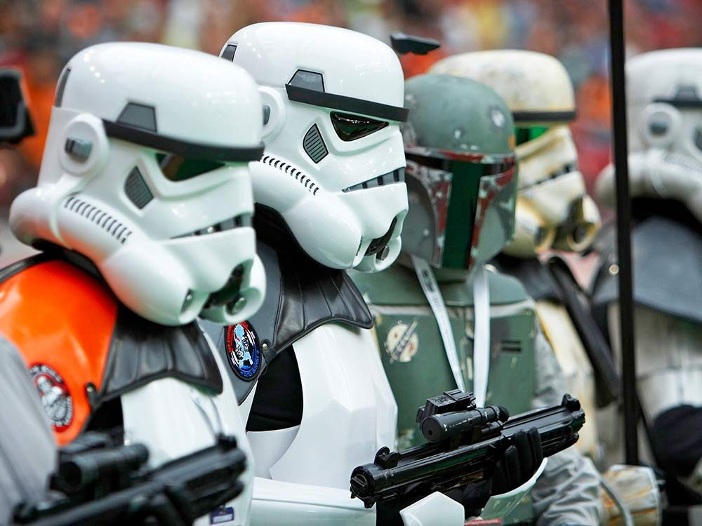 Star Wars storm troopers with Boba Fett