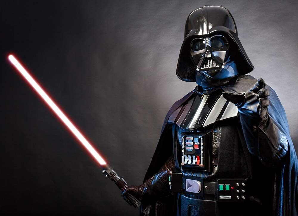 Darth Vader with his lightsaber
