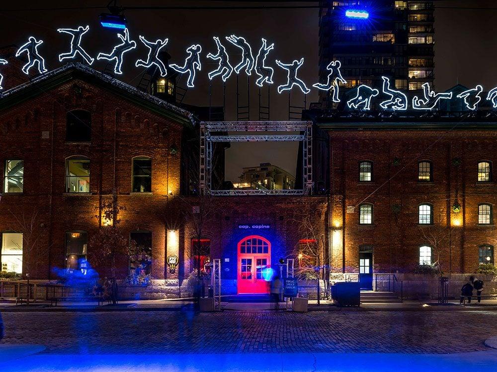 Toronto Light Festival installation