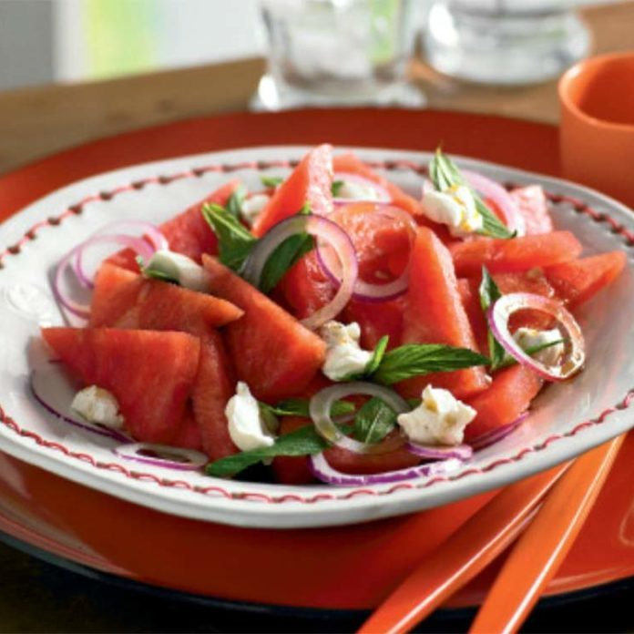 Watermelon, Mint, Red Onion and Labna Salad