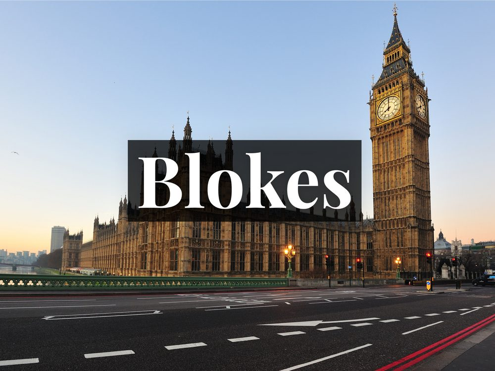 Blokes is among the most popular British phrases