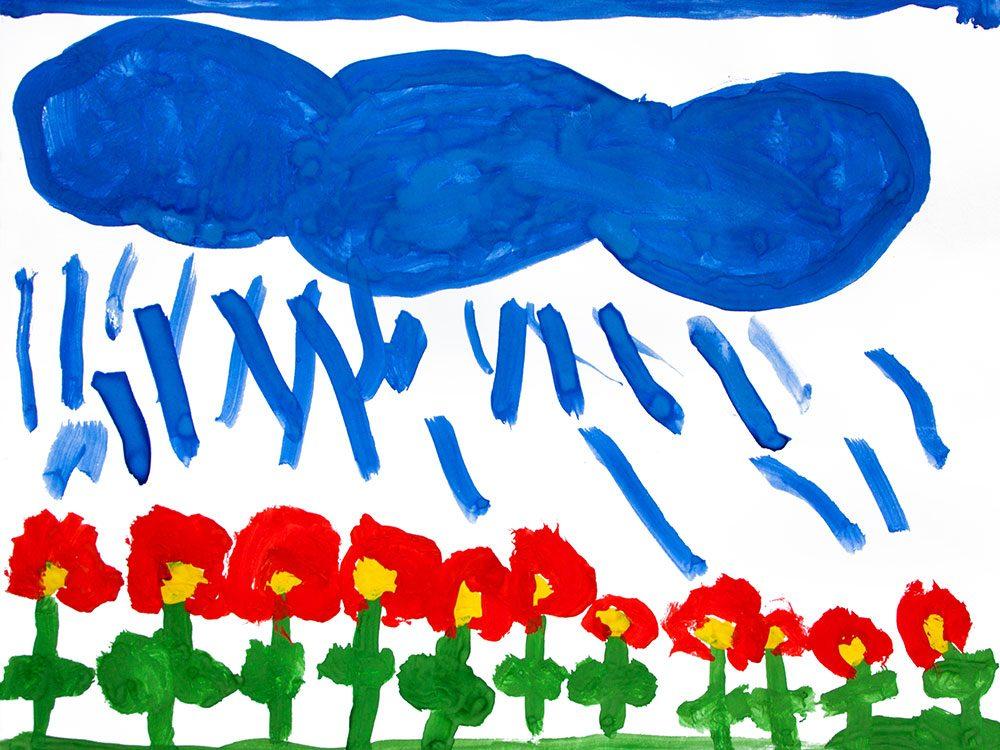 A child's watercolour artwork
