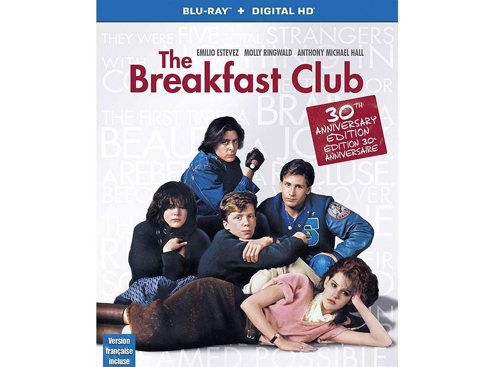 The Breakfast Club blu ray cover