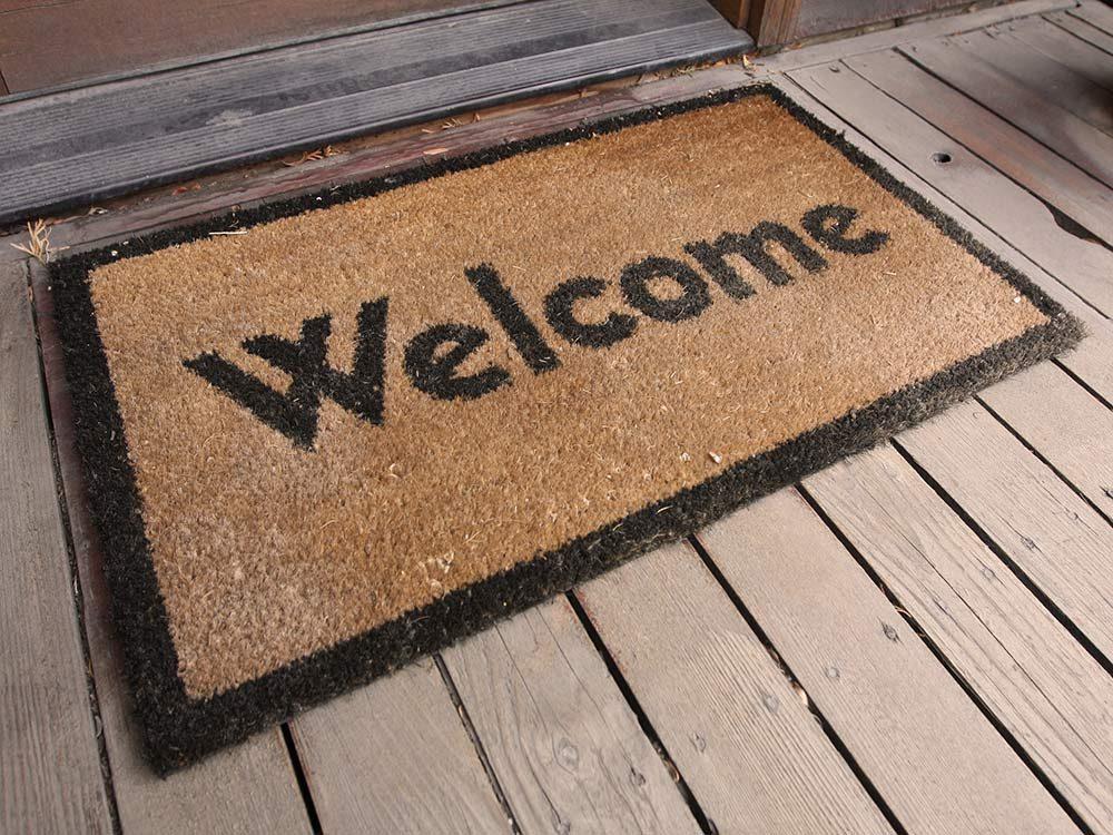 Welcome doormats