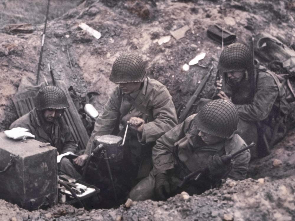 Allied soldiers during World War II