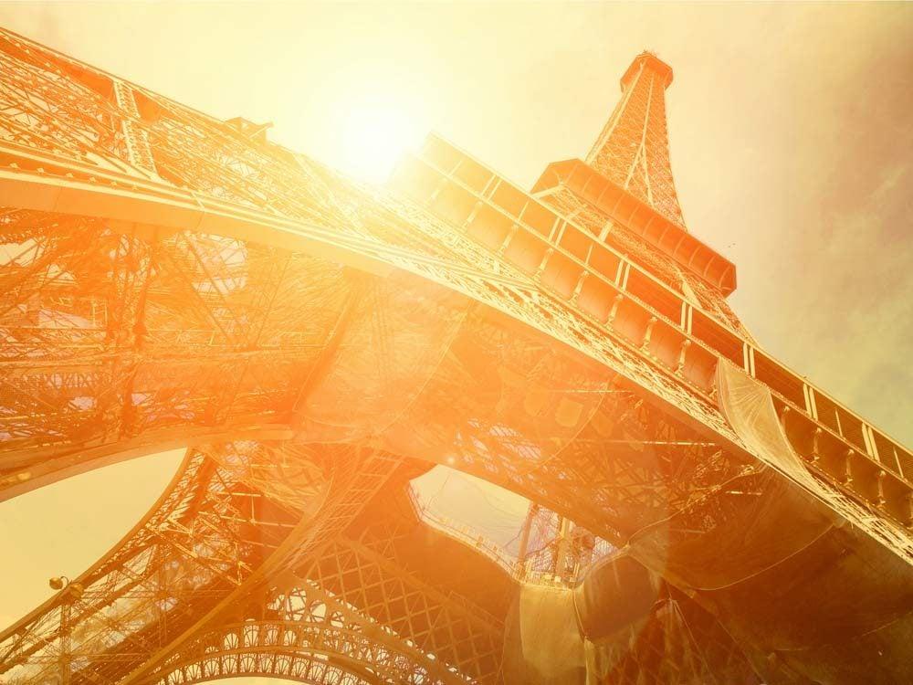 Eiffel Tower under sunlight