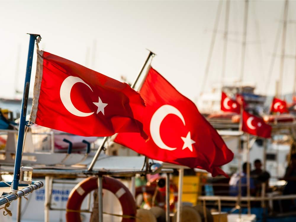 Turkish flags in Turkey