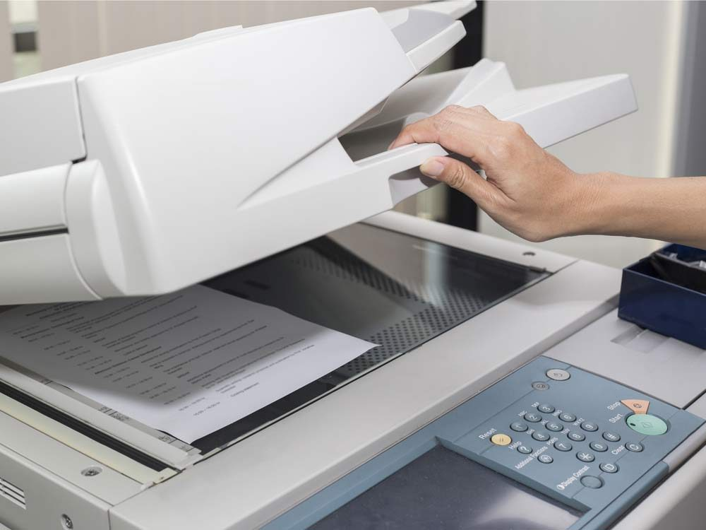 Photocopy machine in office