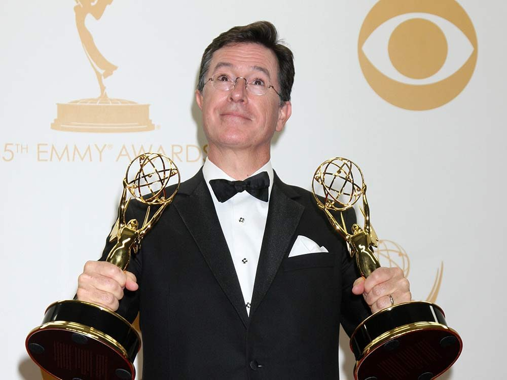 Comedian Stephen Colbert at the Emmy Awards