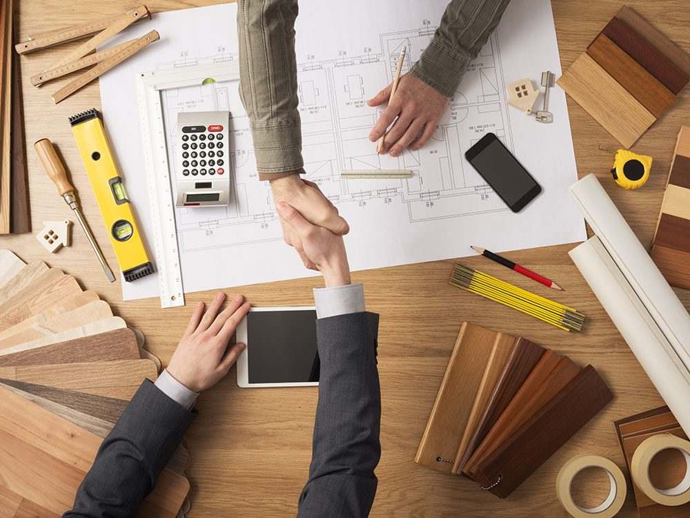 Get a contract from your contractor