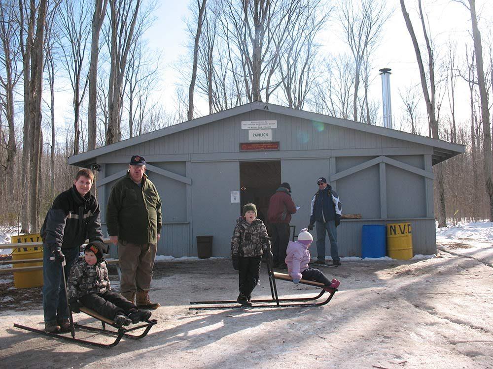 Kicksleding on Family Day at the N.V.C.A.