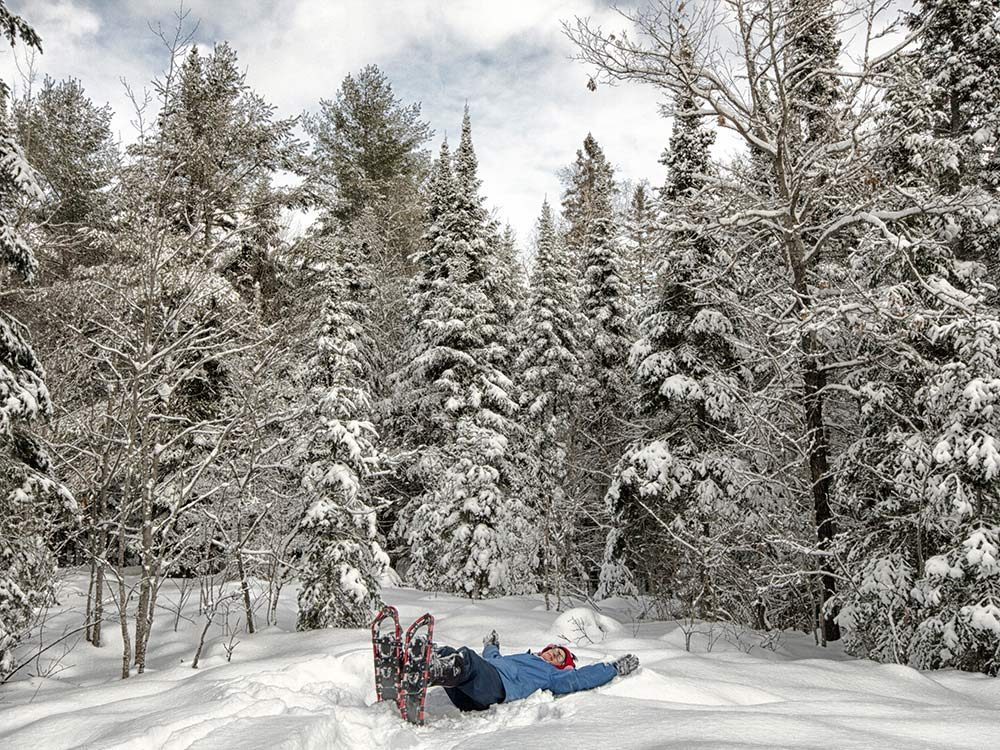 Snowshoeing in Magnetawan, Ontario