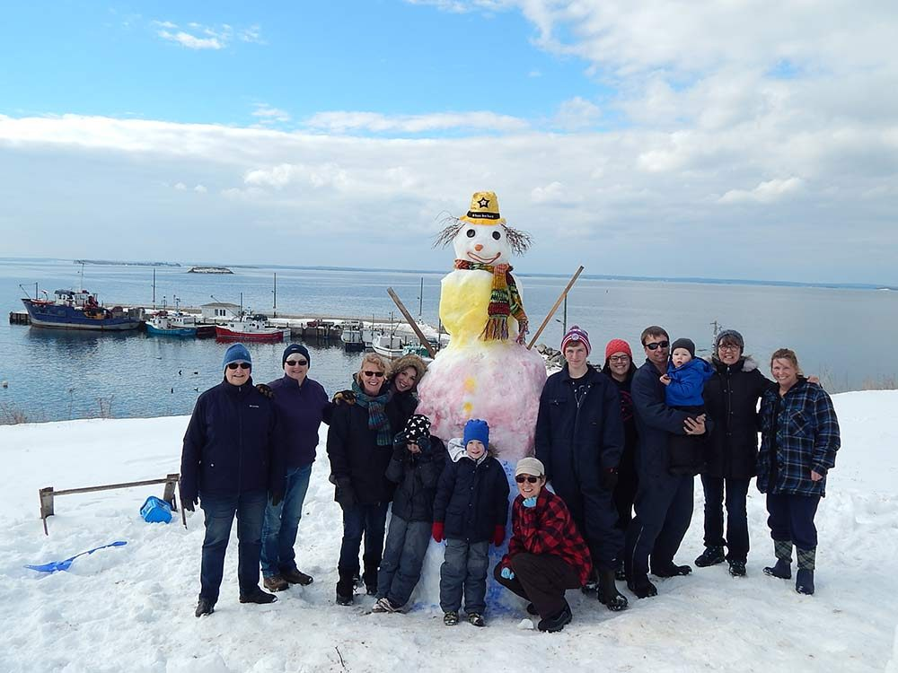 Fred the Snowman in Nova Scotia