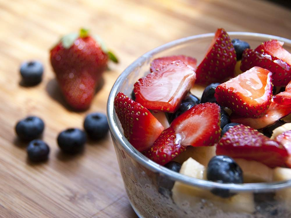 Fresh berries in bowl