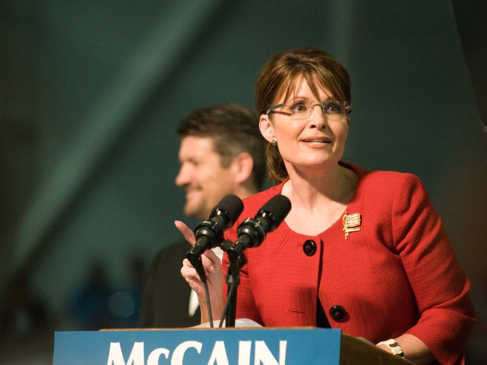 Former vice presidential candidate Sarah Palin