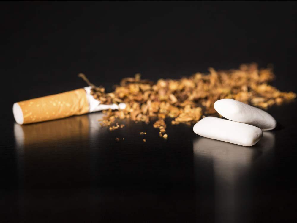 Cigarette with Nicorette gum